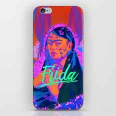 Frida Kahlo neon III iPhone & iPod Skin