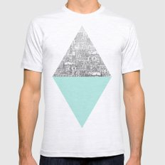 Diamond Mens Fitted Tee Ash Grey SMALL
