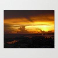 Speaking Sunset Canvas Print