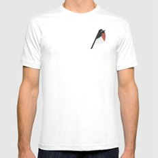 vatervogel White SMALL Mens Fitted Tee