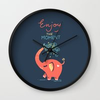 Enjoy the Moment Wall Clock