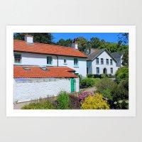 Caldey Island Village.Wa… Art Print