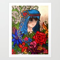 anime Art Prints featuring Anime by VZart