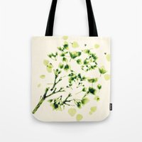 Green tickles - Botanical Print Tote Bag