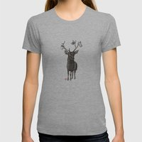 Oh My Deer Womens Fitted Tee Athletic Grey SMALL