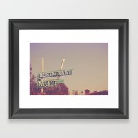 A Night at the Wagon Wheel. Framed Art Print
