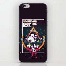 SOMEONE DROP THE BASS. (Dubstep Club) iPhone & iPod Skin