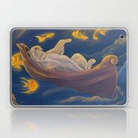 Golden fish and sailing polar bear  Laptop & iPad Skin