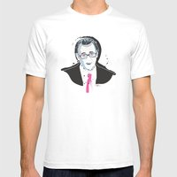 Steve BuscemiINK_Mr. Pin… Mens Fitted Tee White SMALL
