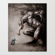 Stitch VS Venom Canvas Print