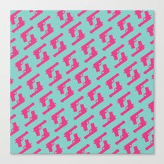 Mint and pink guns Canvas Print