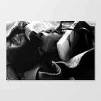 Contents Of A Hipster's … Canvas Print