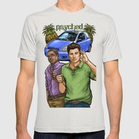 Psyched Mens Fitted Tee Silver SMALL
