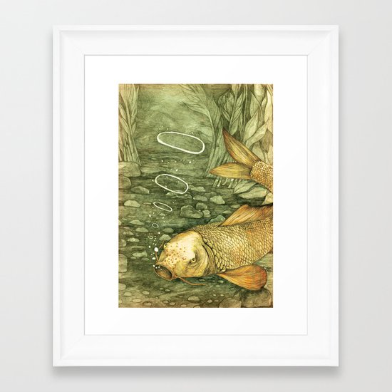 Le Mutisme d'une Carpe (The Golden Carp) Framed Art Print