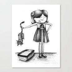 Kitty Litter Canvas Print