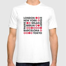 I Love This City Typography White Mens Fitted Tee SMALL
