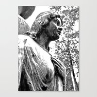 Canvas Print featuring Cemetery maiden by Vorona Photography