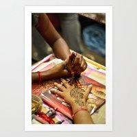 Henna Art Print