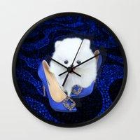 Blue Manolos Wall Clock