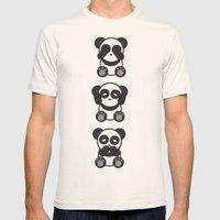 Panda Mantra Mens Fitted Tee Natural SMALL