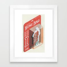Secret Bone Bro  Framed Art Print