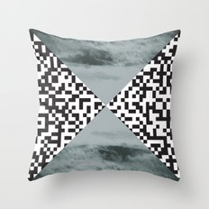 waves/grid #3 Throw Pillow