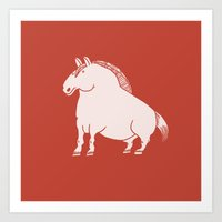 Art Print featuring Pony  by Les Gordon