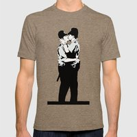 Kissing Coppers Mens Fitted Tee Tri-Coffee SMALL