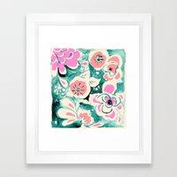 Oasis Flower Framed Art Print