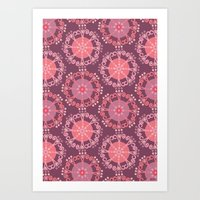 Retro Plum Art Print