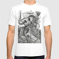 Beyond The Deepwoods Mens Fitted Tee White SMALL