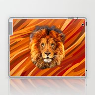 Old Lion Digital Art Pai… Laptop & iPad Skin