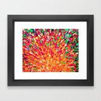 NEON SPLASH - WOW Intens… Framed Art Print