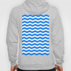 Wavy Stripes (Azure/White) Hoody