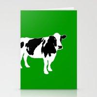 Farm cow art Stationery Cards