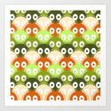 susuwatari pattern (color version) Art Print