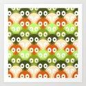 susuwatari pattern (color version) Art Print