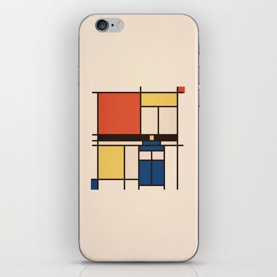 Mondrian Who iPhone & iPod Skin