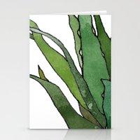 Aloe Vera - Watercolor Illustration Stationery Cards