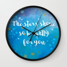 The Stars Shone So Brightly For You Wall Clock