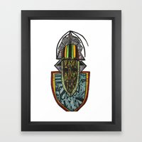 African Rasta Framed Art Print