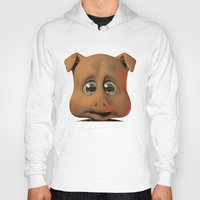 A Scared Little Pig Hoody
