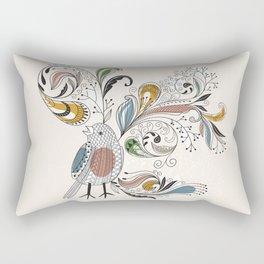 Rectangular Pillow - Floral Bird - UniqueD