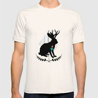 Aztec King Of The Jackal… Mens Fitted Tee Natural SMALL