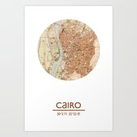 CAIRO EGYPT - city poster - city map poster print   Art Print