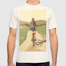 Summer Scenery - Trailbiking Mens Fitted Tee Natural SMALL