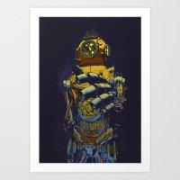Deep Diver Art Print