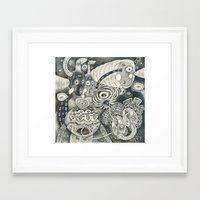 Umbilical Chords Framed Art Print