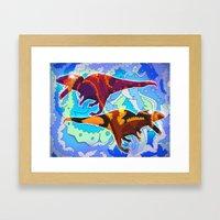 Dinosaur Collaboration Framed Art Print