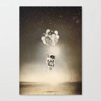 Desert & space Canvas Print